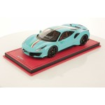 Ferrari 488 Pista Baby Blue with Italian Stripe - One Off Limited 1 pcs by MR