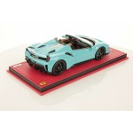 Ferrari 488 Pista Spider Baby Blue with Italian Stripe - One Off Limited 1 pcs by MR