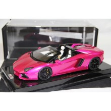 Lamborghini Aventador LP700-4 Roadster, Flash Pink on Carbon Base, Limited 30 pcs by MR