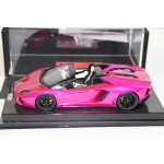 Lamborghini Aventador Roadster, Flash Pink on Carbon Base, Limited 30 pcs by MR 1/18