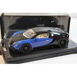 Bugatti Veyron Super Sport Blue/Black on Carbon Base, Limited 30 pcs by MR 1/18