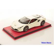 Ferrari F8 Tributo White Bianco Fuji - Limited 99 pcs with Display Case by MR