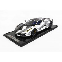 Ferrari Laferrari Camouflage - Limited 60 pcs with Display Case by BBR (Scale 1/12)