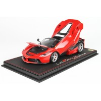 Ferrari LaFerrari APERTA Red Rosso Corsa (Full Open) - Limited 349 pcs with Display Case by BBR