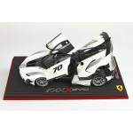 Ferrari FXX-K Evo Die Cast White Italian - Limited 499 pcs with Display Case by BBR