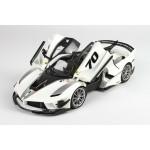 Ferrari FXX-K Evo Die Cast White Italian - Limited 499 pcs with Display Case by BBR