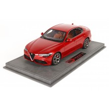Alfa Romeo Giulia Veloce, Rosso Monza - Limited 199 pcs with Display Case by BBR