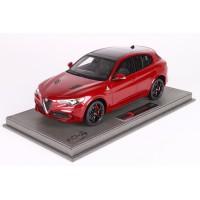 Alfa Romeo Stelvio Quadrifoglio, Rosso Competizione - Limited 500 pcs with Display Case by BBR