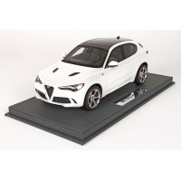 Alfa Romeo Stelvio Quadrifoglio in White Alfa - Limited 50 pcs with Display Case by BBR
