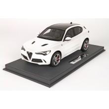 Alfa Romeo Stelvio Quadrifoglio in White Alfa - Limited 50 pcs with Display Case by BBR