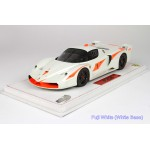 Ferrari FXX Programme Black, White - Limited 15 pcs with Display Case by BBR
