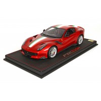 Ferrari F12 TdF, Red Enzo Metallic with Italian Flag, Limited 20 pcs with Display Case by BBR