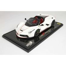 Laferrari Aperta Bianco Italia Met on Carbon Base - Limited 24 pcs with Display Case by BBR