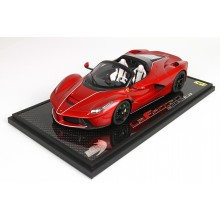 Laferrari Aperta Enzo Red Met on Carbon Base - Limited 24 pcs with Display Case by BBR