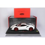 Ferrari 488 Pista One Off Metallic Italian White - Limited 28 pcs with Display Case by BBR