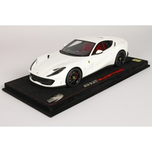 Ferrari 812 Superfast 2017, Avus White - Limited 20 pcs with Display Case by BBR