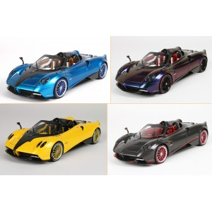 Pagani Huayra Roadster (Blue, Chameleon, Yellow, Full Carbon) - Limited 32 pcs w/ Display Case by BBR