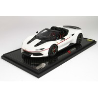 Ferrari J50 Rosso Gloss White on Carbon Base - Limited 50 pcs with Display Case by BBR