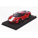 Ferrari 488 Pista Piloti Red Rosso Corsa - Limited 48 pcs with Display Case by BBR