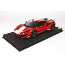 Ferrari 488 Pista Piloti Met Red Corsa - Limited 40 pcs with Display Case by BBR