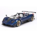 Pagani Barchetta 2018 in Carbon Fiber Blue - Limited 100 pcs with Display Case by BBR