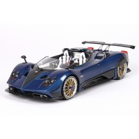 Pagani Barchetta 2018 in Carbon Fiber Blue - Limited 200 pcs with Display Case by BBR