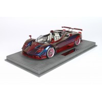 Pagani Barchetta in Chameleon with Red Carbon Fibre - Limited 32 pcs with Display Case by BBR