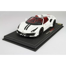 Ferrari 488 Pista Spider in Avus White - Limited 24 pcs with Display Case by BBR
