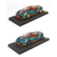 Ferrari 488 Pista Spider Green Pine - Limited 24 pcs with Display Case by BBR