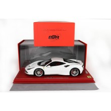 Ferrari F8 Tributo White Bianco Cervino - Limited 28 pcs with Display Case by BBR