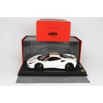 Ferrari F8 Tributo White with Italian Stripe - Limited 20 pcs with Display Case by BBR
