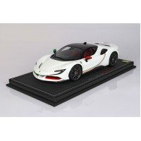 Ferrari SF90 Stradale Bianco Avus Italian - Limited 20 pcs with Display Case by BBR