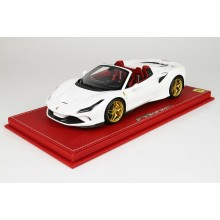 Ferrari F8 Spider White Bianco Cervino - Limited 14 pcs with Display Case by BBR