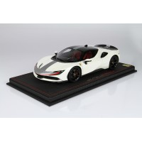 Ferrari SF90 Stradale Pack Fiorano White Bianco #1/16 - Limited 16 pcs with Display Case by BBR