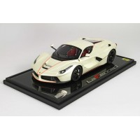 Ferrari Laferrari Fuji White on Carbon Base - Limited 12 pcs with Display Case by BBR