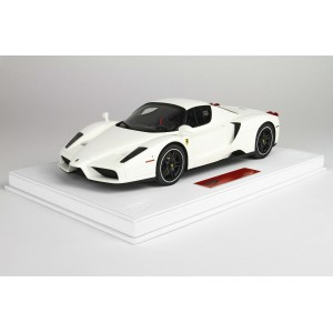 Ferrari Enzo Deluxe Version, White - Limited 20 pcs with Display Case by BBR