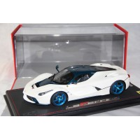 LaFerrari, Italian White with Blue Carbon Roof - Limited 20 pcs with Display Case by BBR