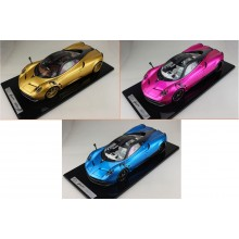 Pagani Huayra in Flash Pink, Gold, Blue, Limited 20 pcs by BBR (Scale 1/12)