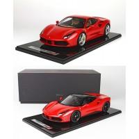Ferrari 488 GTB Rosso Corsa, Limited 5 pcs by BBR (Scale 1/12)