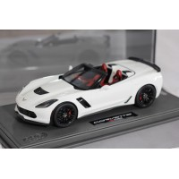 Corvette Z06 Convertible White - Limited 32 pcs with Display Case by BBR