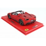 Ferrari 488 GTB Spider Rosso Opaco - Limited 32 pcs with Display Case by BBR