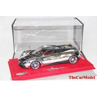 Pagani Huayra Chrome with Carbon Roof, Limited 20 pcs with Display Case by BBR