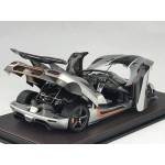Koenigsegg One:1 in Silver, Limited 150 pcs (Opened Version) by FrontiArt 1/18