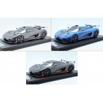 Koenigsegg One:1 (Full Carbon, Carbon Pink, Matt Blue) by FrontiArt 1/18