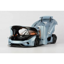 Koenigsegg Regera in Horizon Blue, Limited 299 pcs (Opened Version) by FrontiArt