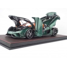 Koenigsegg Regera in Green Carbon, Limited 299 pcs (Opened Version) by FrontiArt