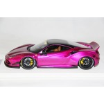 Ferrari 488 Liberty Walk LB Performance, Chrome Pink - Limited 20 pcs by LB Work