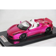 Ferrari 458 Spider Liberty Walk Performance, Flash Pink on Carbon Base - Ltd 10 pcs by LB Work
