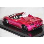 Ferrari 458 Spider Liberty Walk Performance, Flash Pink on Carbon Base - Ltd 10 pcs by LB Work