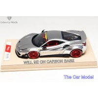 Ferrari 488 Liberty Walk Performance, Chrome Silver on Carbon Base - Ltd 10 pcs by LB Work